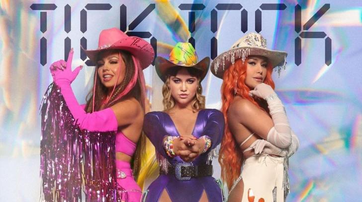 Thalia, Farina y Sofía Reyes juntas en 'Tick Tock'