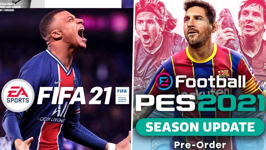 Una dura batalla entre PES 2021 y FIFA 2021