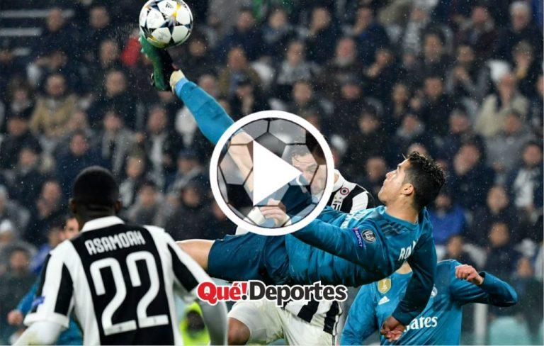 #GolazoDelDía La bestial media volea de Cristiano Ronaldo