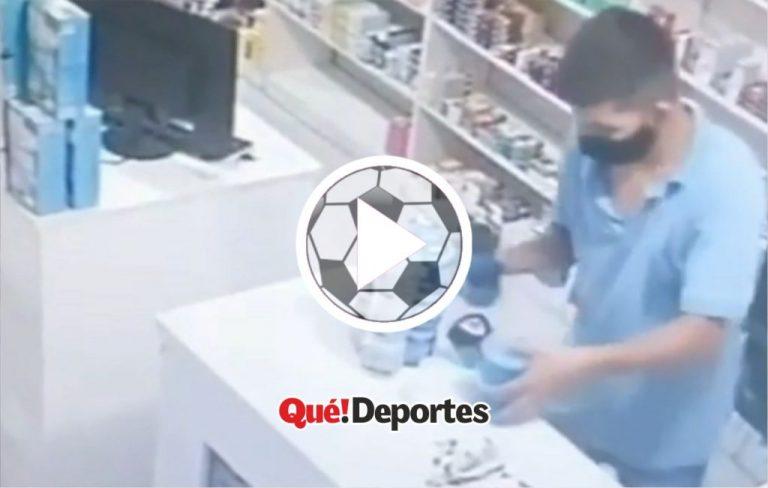 Futbolista frustrado se salva de una tragedia en una farmacia