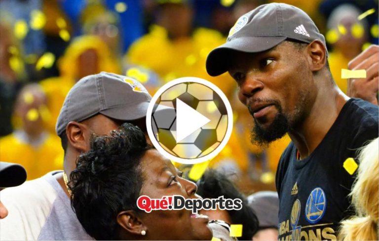 """""""Tú eres la verdadera MVP"""", el emotivo discurso de Kevin Durant"""