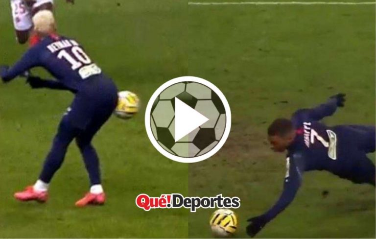 Mbappé y una mano indiscreta que le costó solamente una amarilla