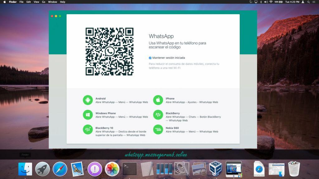 usa whatsapp web