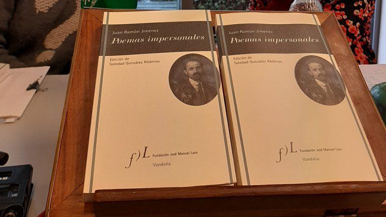 Se publica 'Poemas impersonales', libro de Juan Ramón Jiménez