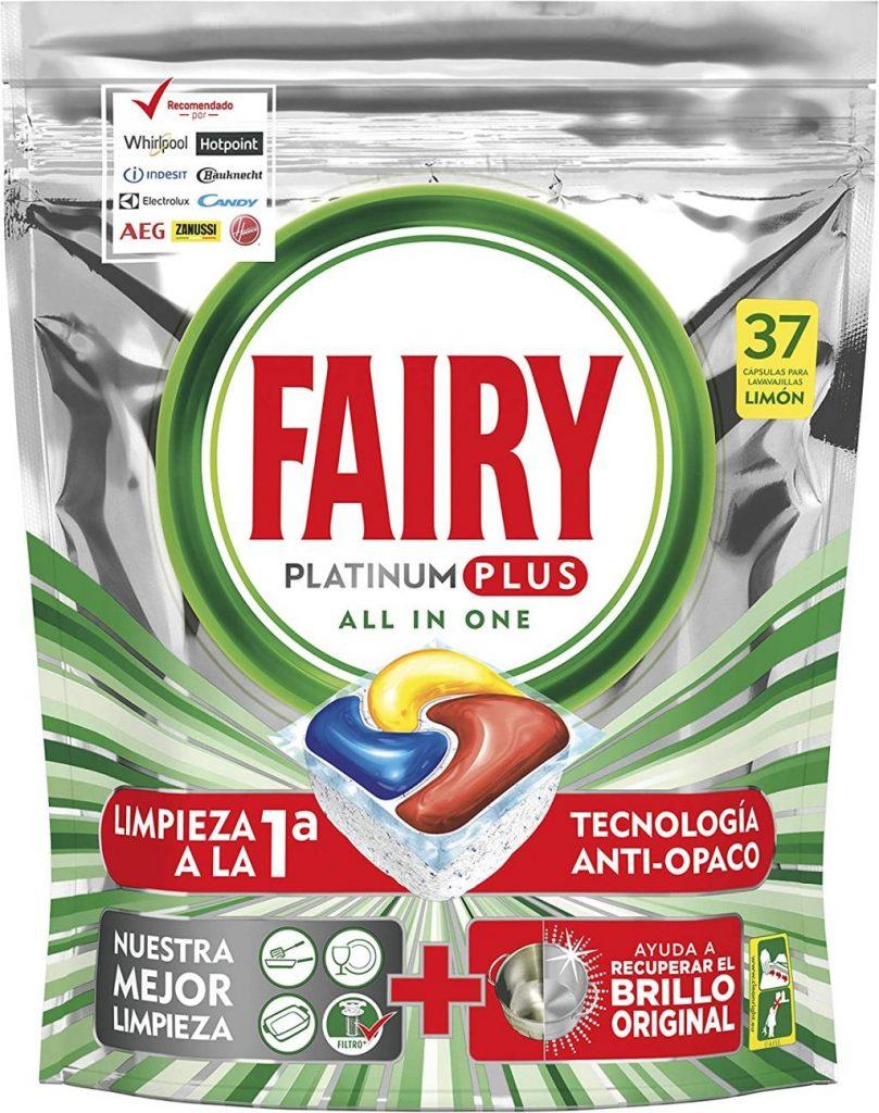 Fairy Platinum Plus. Los mejores detergentes para lavavajillas por menos de 10 euros