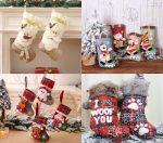 Aliexpress: 9 calcetines navideños para colgar en la chimenea