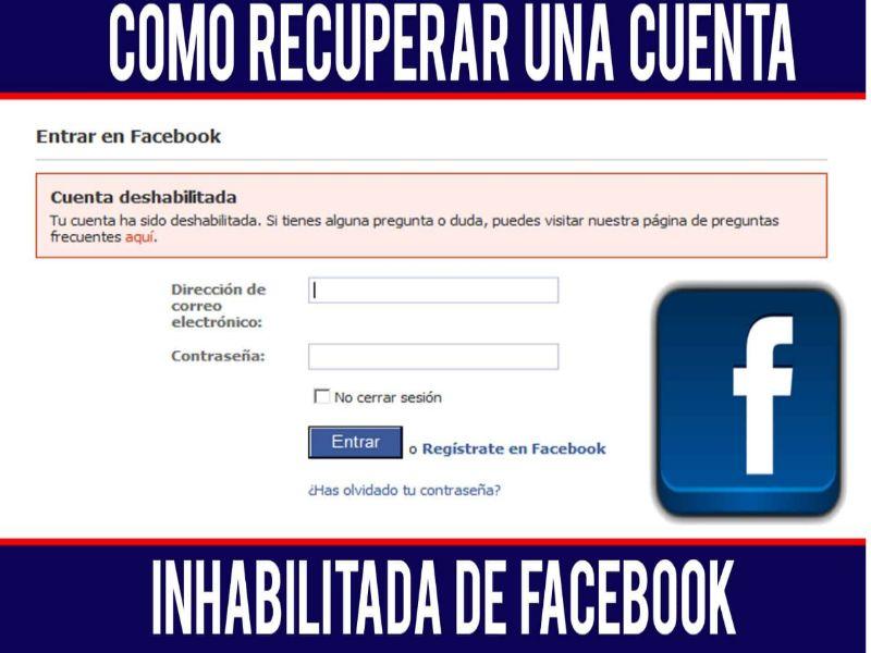 Inhabilitacion la cuenta de Facebook