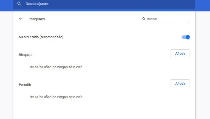 Desactivar la carga de imágenes en el navegador