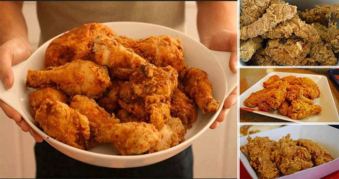 Método de preparación del pollo frito al estilo KFC