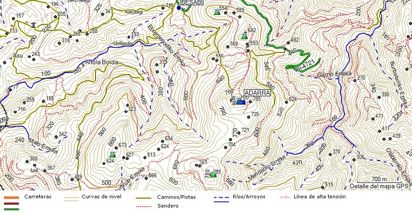 Mapa topográfico - cartografía
