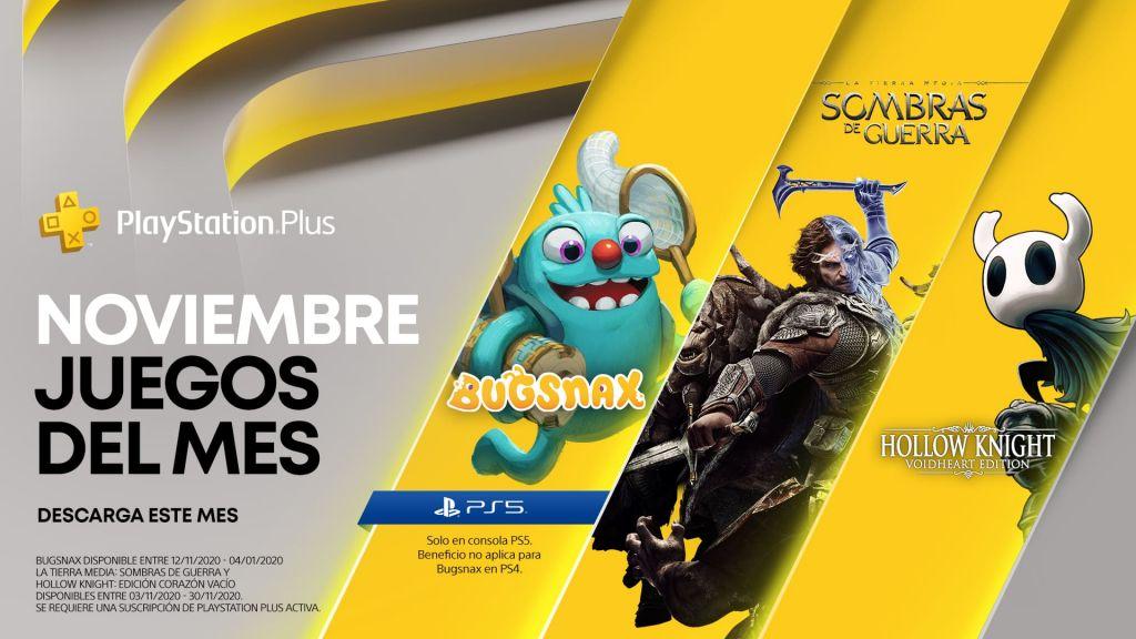 Juegos gratis de noviembre (incluso para PS5)