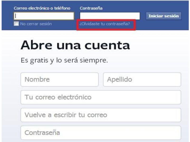 Recuperación de tu cuenta de Facebook