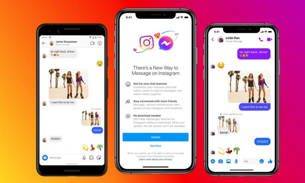 Ahora puedes hablar entre Instagram y Facebook
