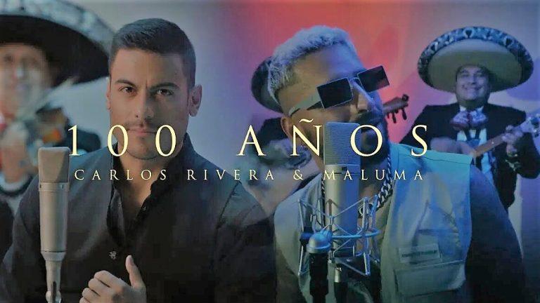 Carlos Rivera con Maluma en '100 años'