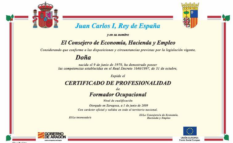 Qué es un certificado de profesionalidad