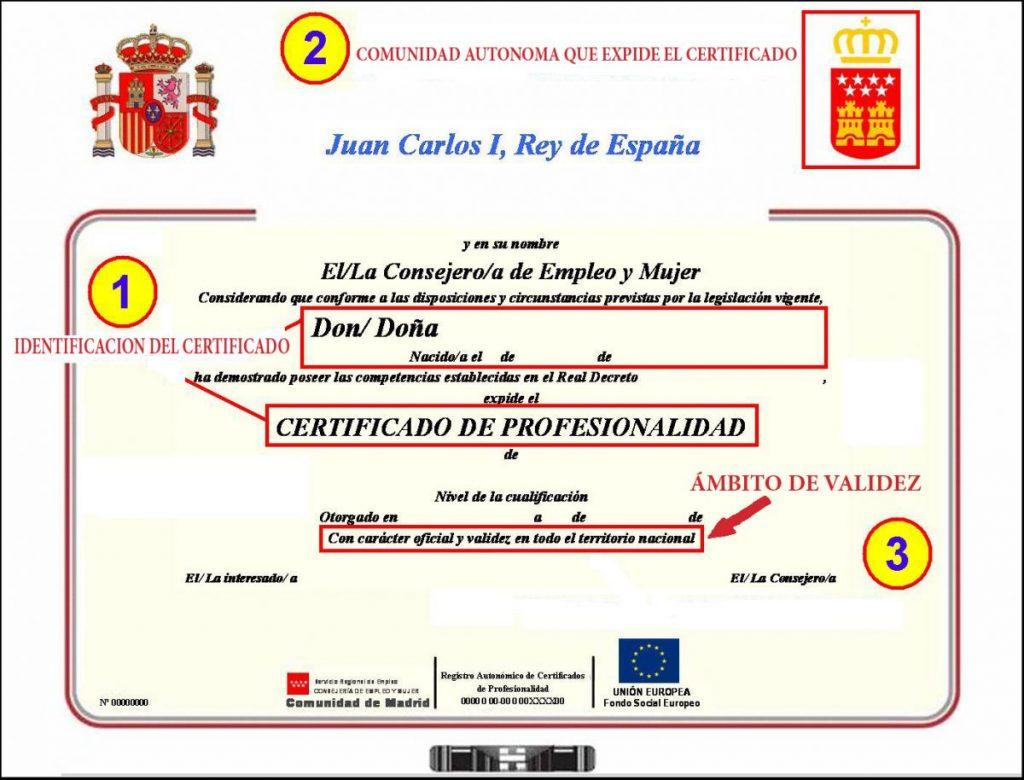 Objeto del certificado de profesionalidad