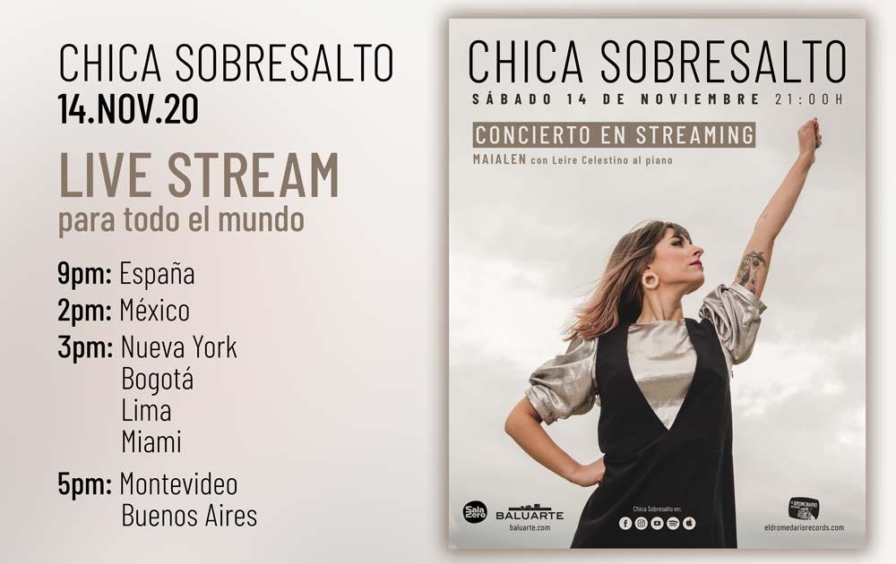 Chica Sobresalto - Fusión del Núcleo concierto steaming Mailaen Gurbindo
