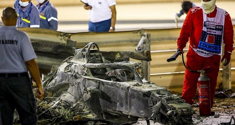 Accidente Grosjean Fórmula 1 Alonso
