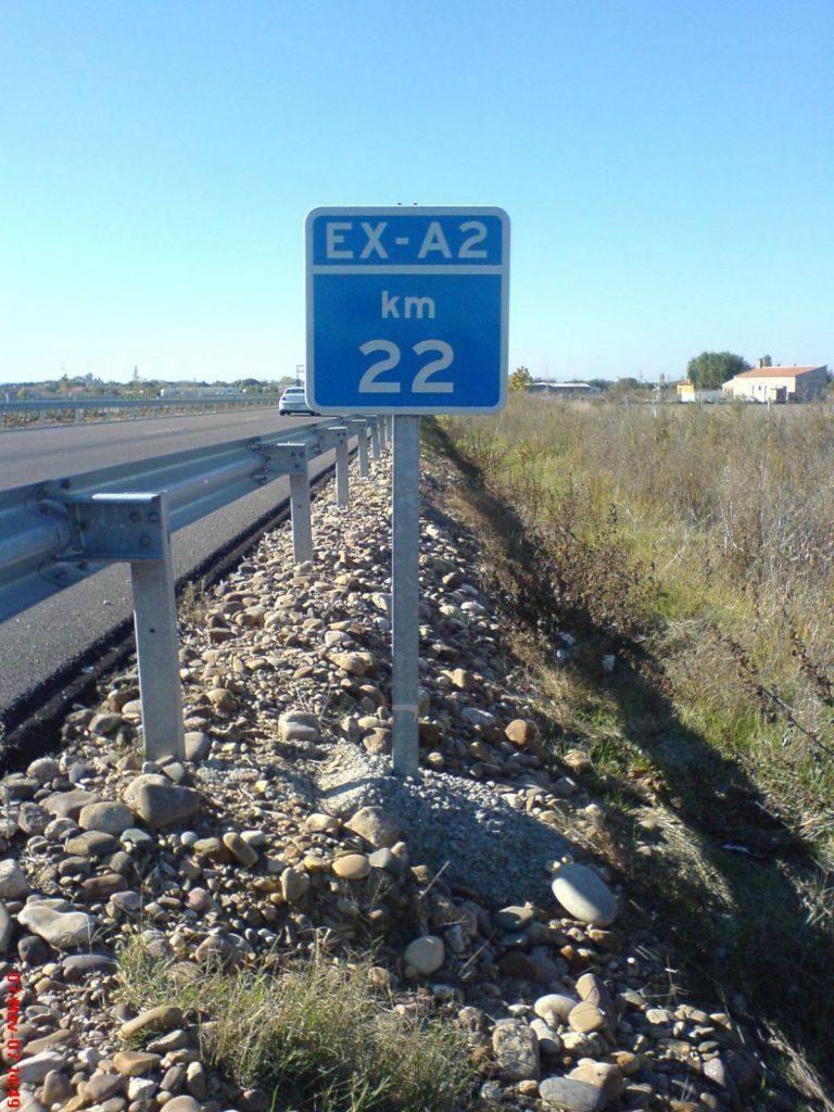 Ejemplo de hitos kilométricos: