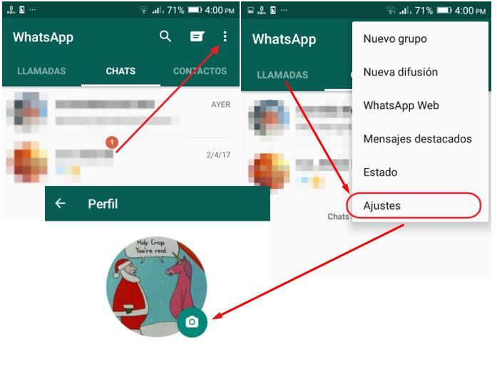 Pasos para cambiar la foto de perfil en WhatsApp en el móvil