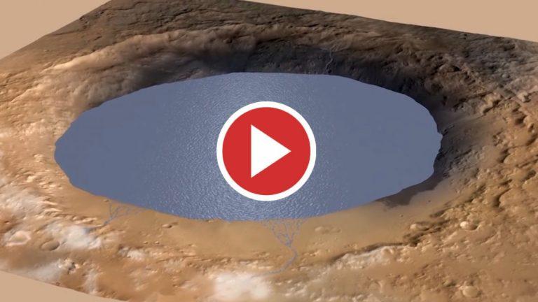 Huellas geológicas de una megainundación en Marte