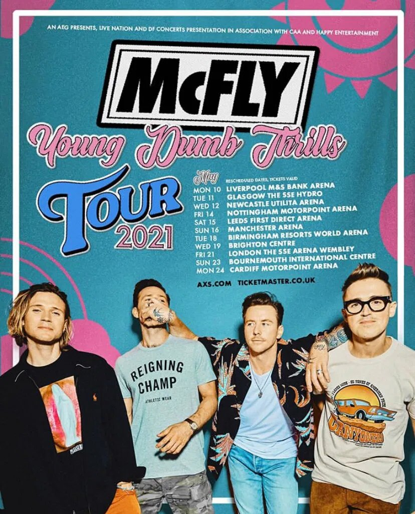 McFly - Young Dumb Thrills TOUR