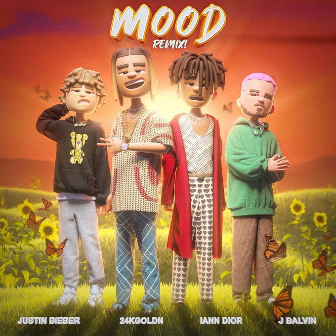 J Balvin, Justin Bieber, 24kGoldn e iann dior Mood remix