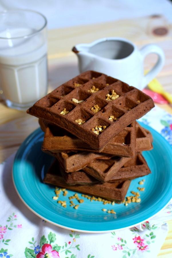 Receta paso a paso para preparar unos gofres de chocolate en casa