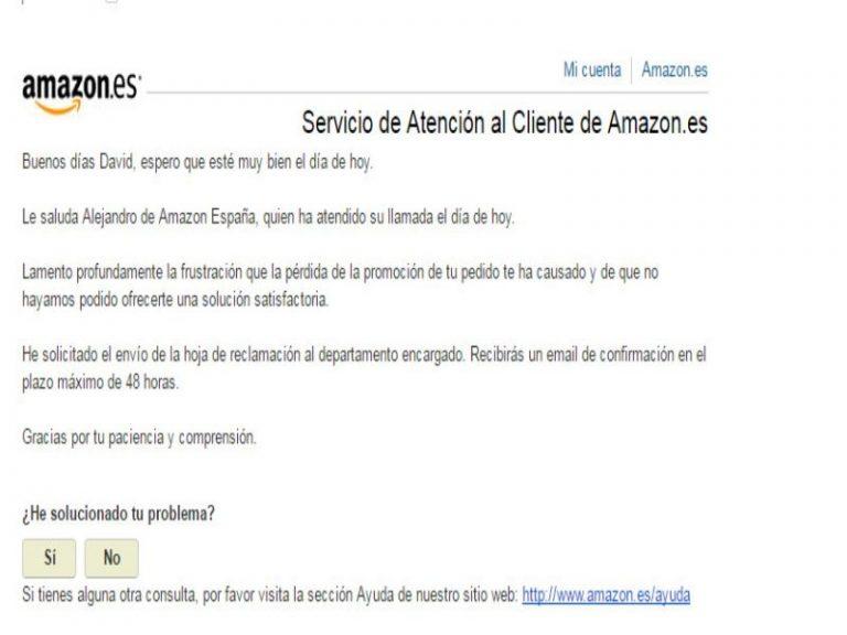 Cómo poner una hoja de reclamaciones en Amazon