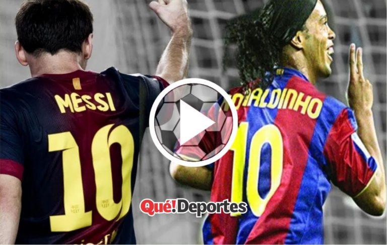 La magia de Ronaldinho que ni Messi pudo igualar
