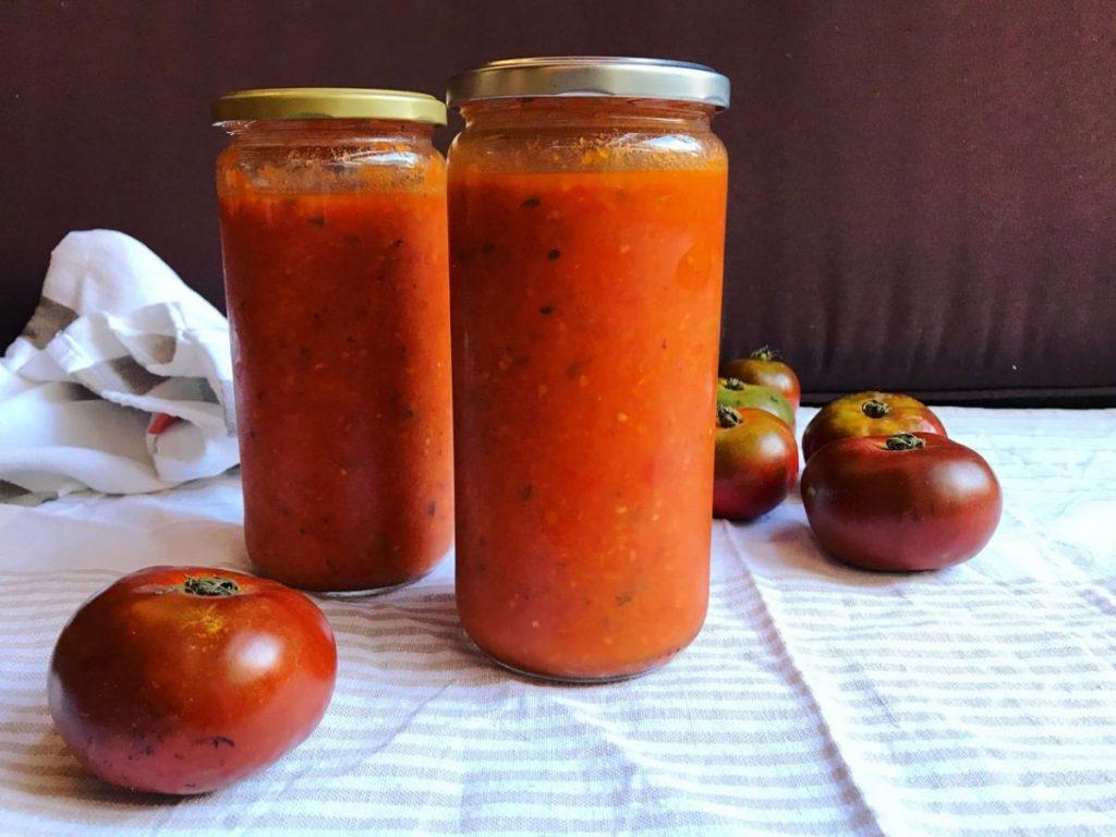 Ingredientes para hacer tomate frito en Thermomix