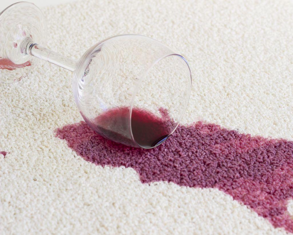 Una algombra con manchas de vino no esta arruinada