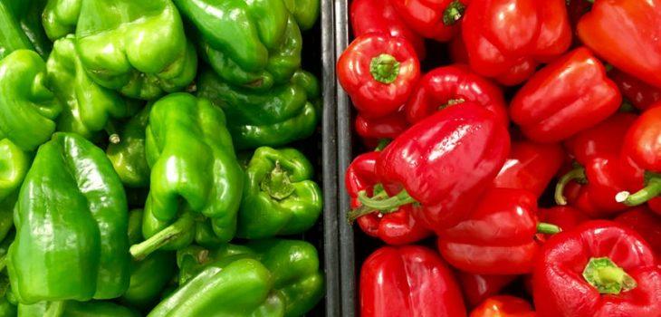 Pimientos rojos o verdes