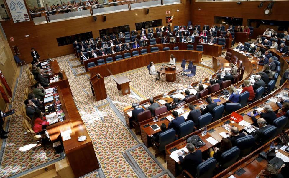 ¿Cuáles son las funciones de la asamblea de Madrid?