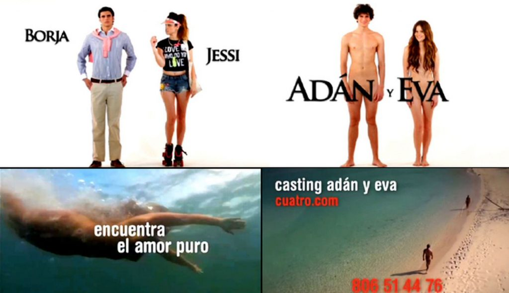 Adán y Eva el reality capaz de rivalizar con La isla de las tentaciones