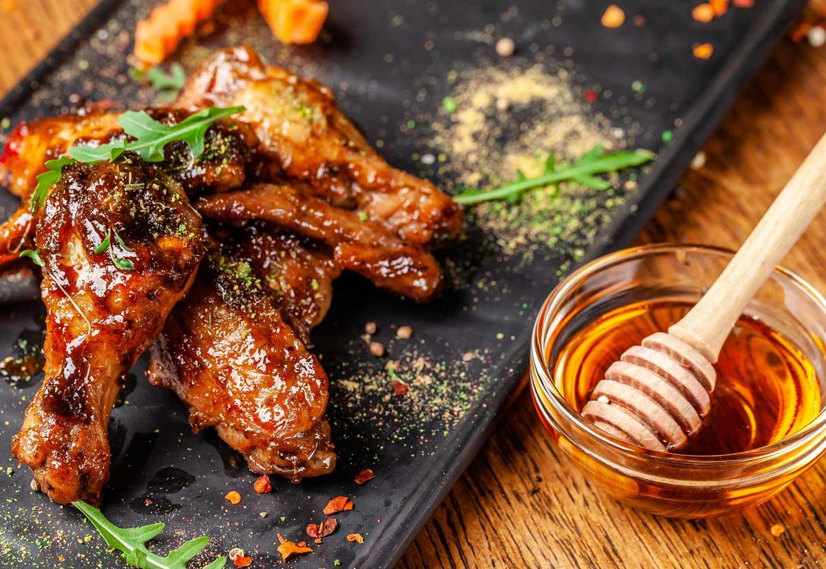 Alitas de pollo sin aceite saludables