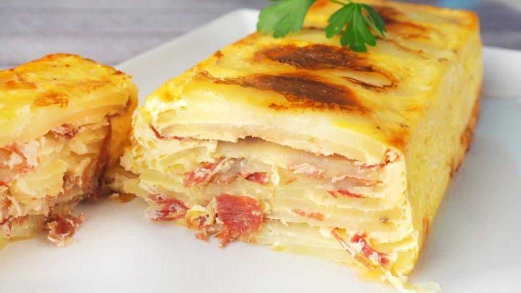 Pasos para preparar pastes de patatas de jamón y queso al horno
