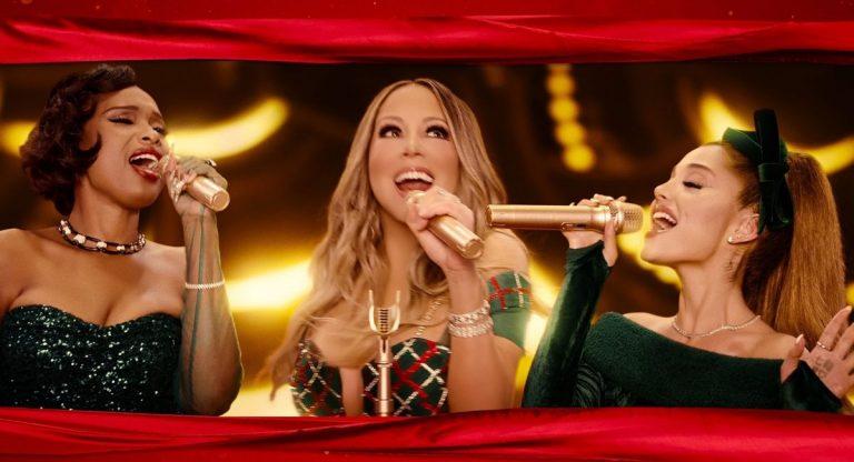 Mariah Carey, Ariana Grande y Jennifer Hudson juntas en 'Oh Santa!'