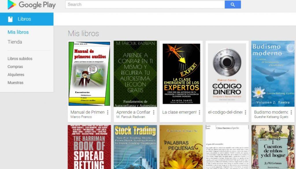Pasos para subir un libro a Google Play Libros