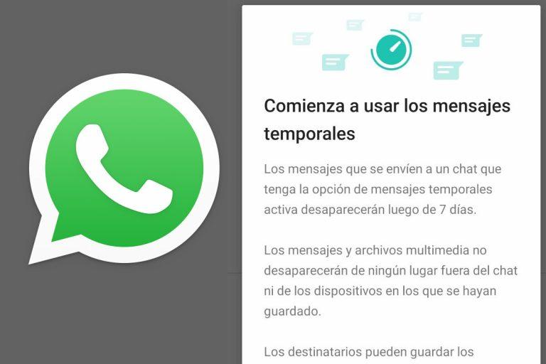WhatsApp: así puedes escribir mensajes que desaparecen solos