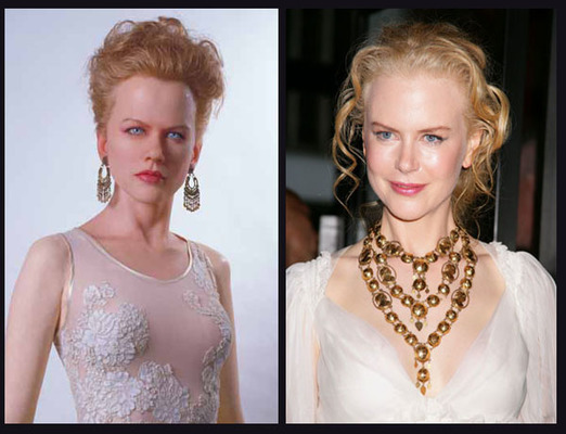 La imagen de Nicole Kidman es bastante fantasmagórica, como la de Fernando Alonso.