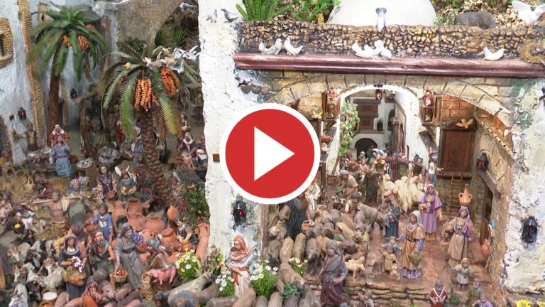 El belén navideño de Roca de Meliana se adapta al coronavirus