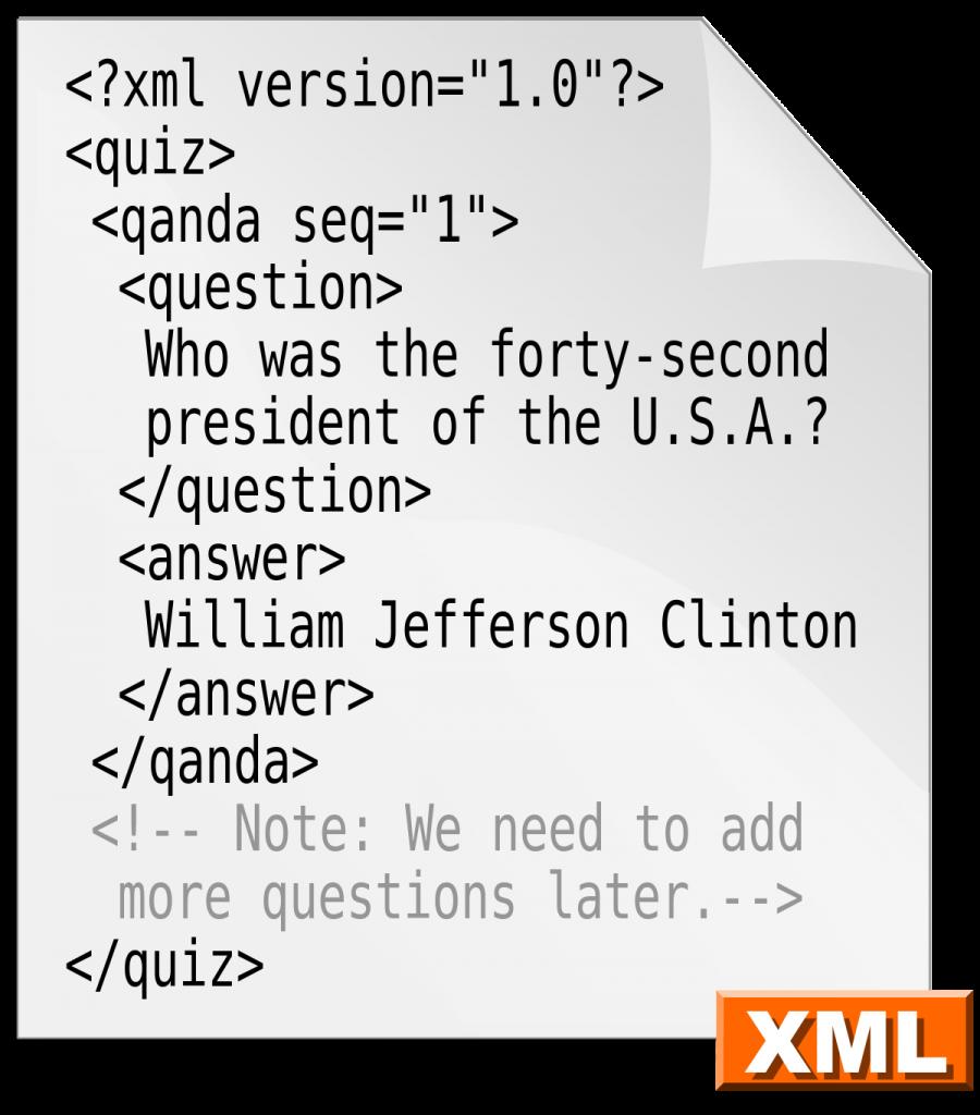 Estructura del XML
