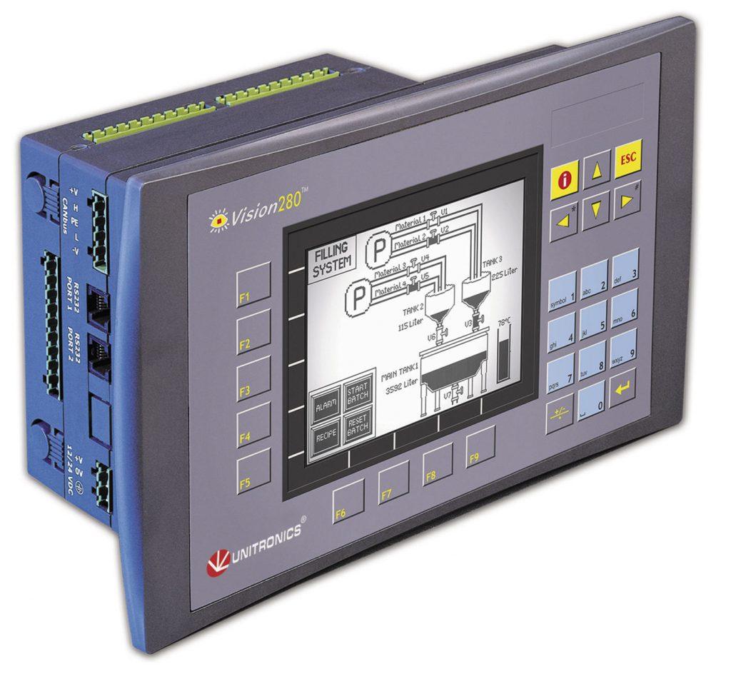 PLC con HMI incorporado