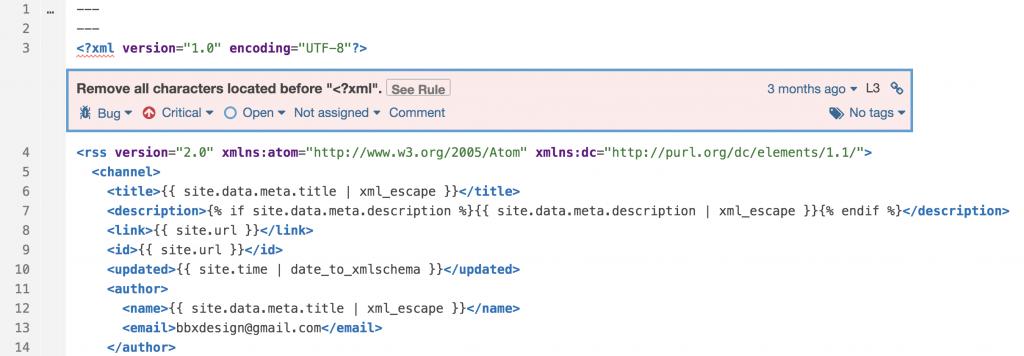 Sintaxis del XML