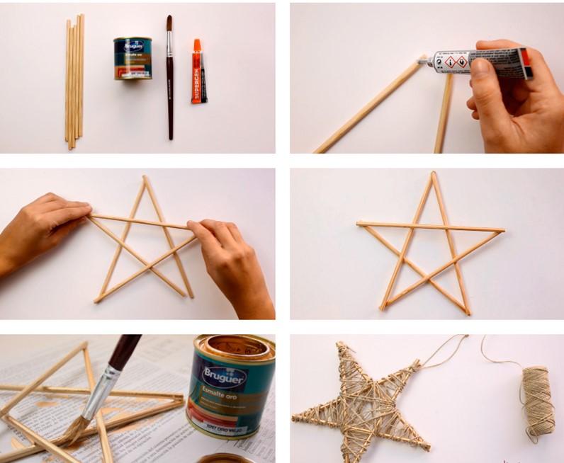 procedimiento para adornar la estrella de Navidad