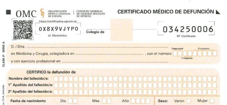 Cómo pedir un certificado de defunción