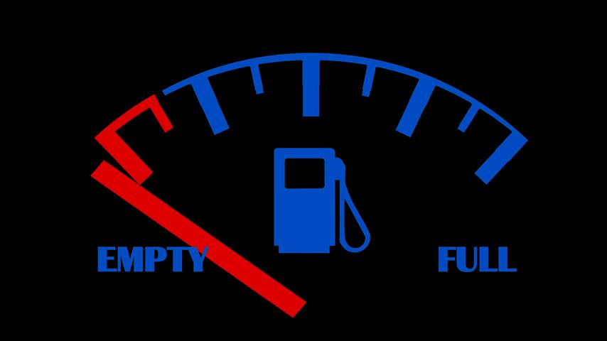 Depósito de combustible del coche vacío