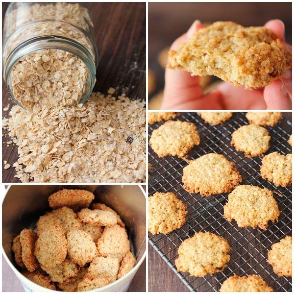 Preparación de galletas con harina de avena