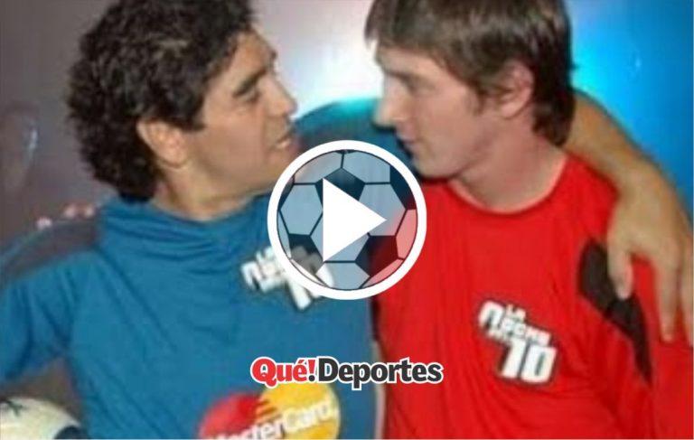 El día que Messi y Maradona compartieron campo de juego juntos